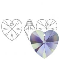 Vitrail Light 6228 Swarovski Crystal Heart Pendant 18mm PK1